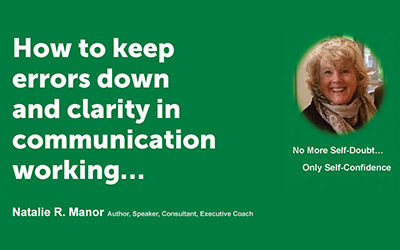 How to keep errors down and clarity in communication working…