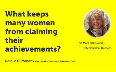 What keeps many women from claiming their achievements?