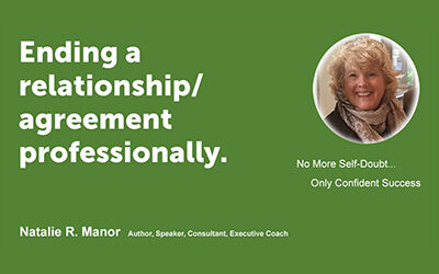 Ending a relationship/agreement professionally.